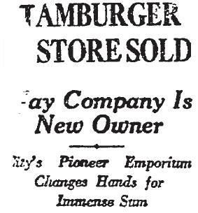 May Company Hamburger's Los Angeles