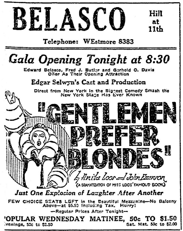 Belasco_Theater_Los Angeles_opening_night_1926