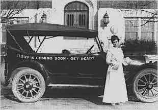 aimee semple mcpherson gospel car