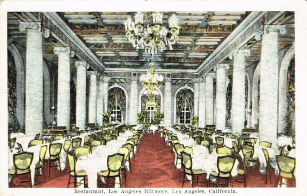 Los Angeles Biltmore dining room