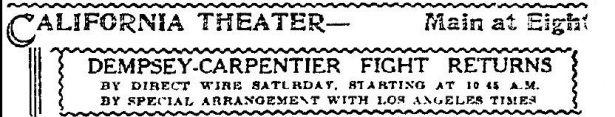 Dempsey-Carpentier 1921