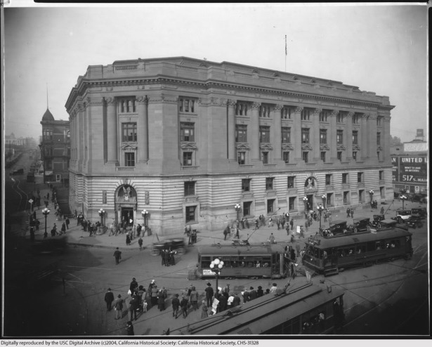 los angeles post office and federal building of 1910