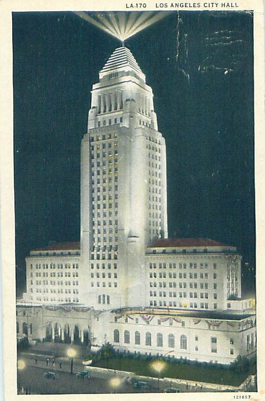 LA city hall night view