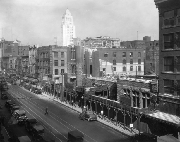 LA city hall, demolition 1929