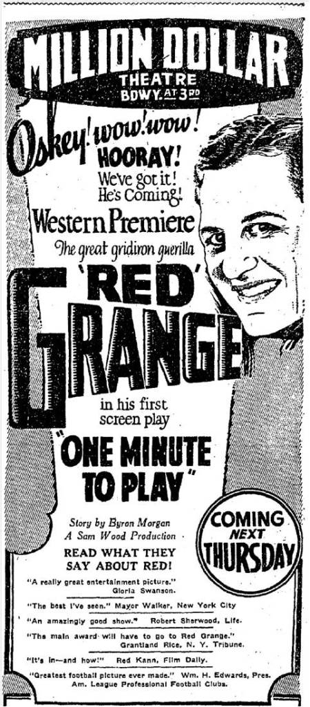 red_grange_one_minute_o_play