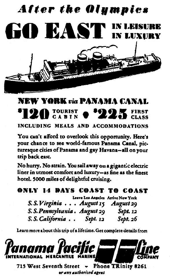 ad-panama-pacific-line-New-York-Los-Angeles-Olympics-1932