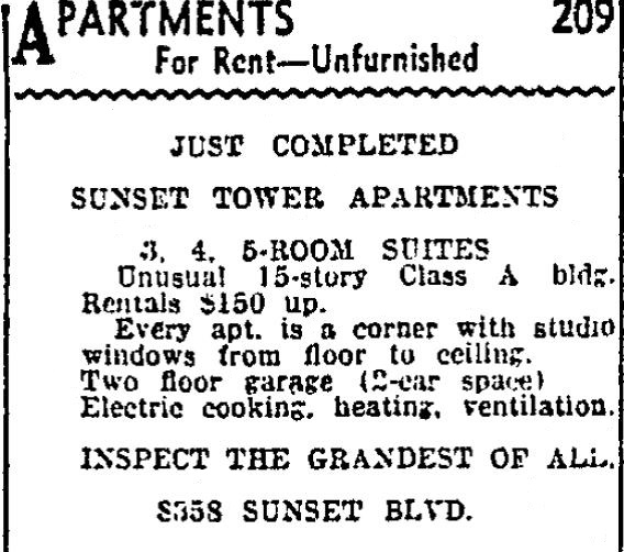 1931 9 2 sunset tower ad