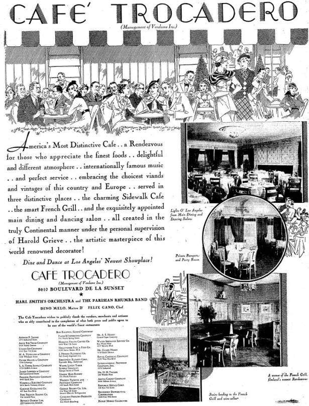 1934 trocadero opening 8610 sunset