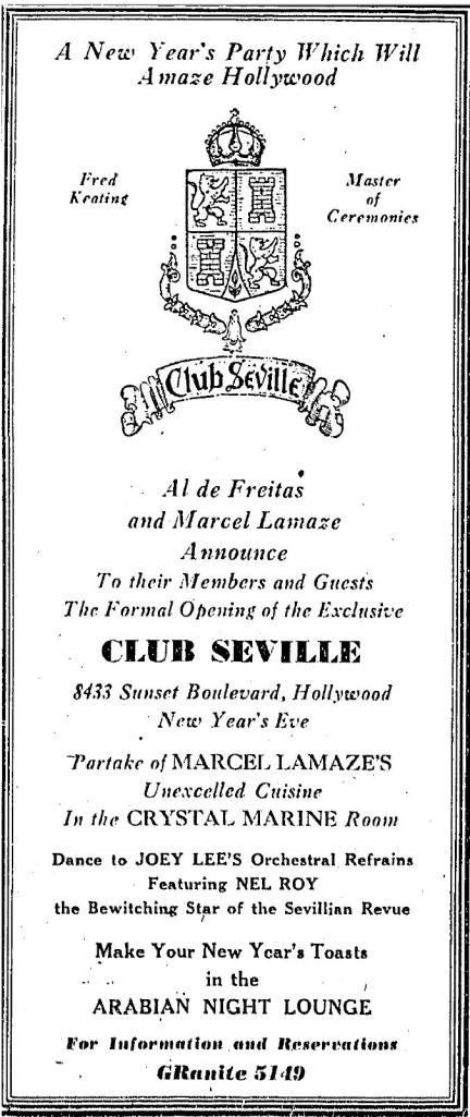 1935 12 29 8433 sunset strip as Club Seville