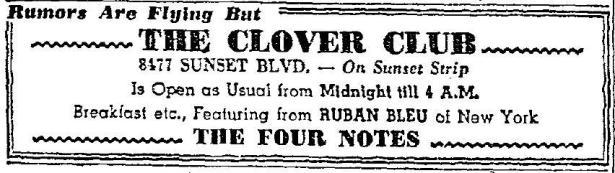 1946 10 19 Clover Club