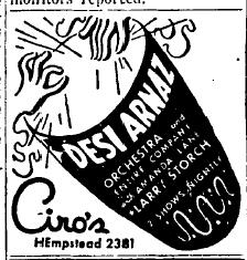 1946 2-1 desi arnaz at Ciro's
