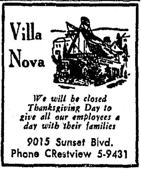 Villa Nova ad 1959