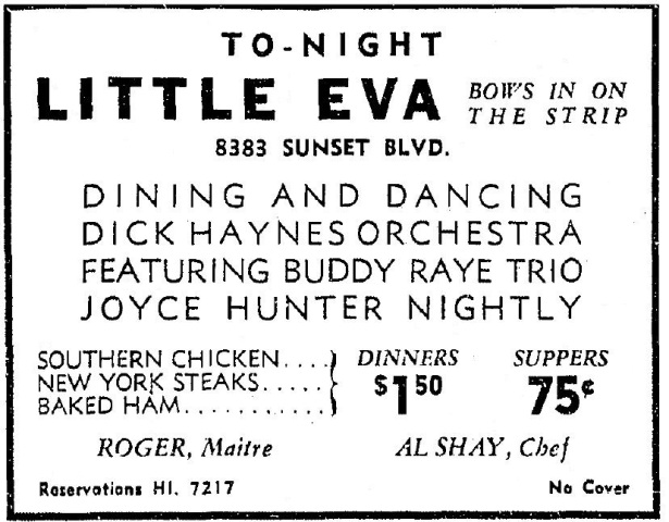 8383 sunset strip as little eva 7-6-1939