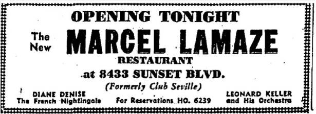 8433 sunset strip as cafe lamaze 12--29-1938
