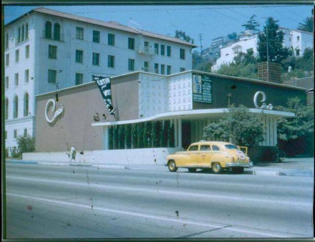 8433 sunset strip as Ciro's-1940s color