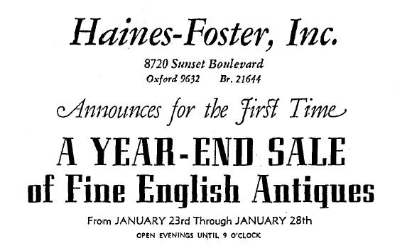 8720 sunset blvd. as haines-foster 1-22-1939