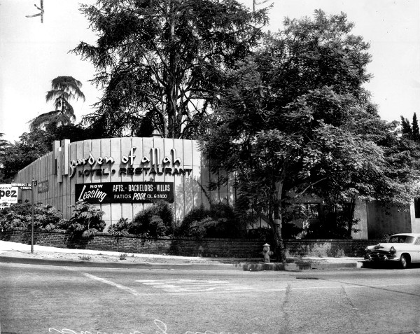 garden of allah hotel in the 1950s