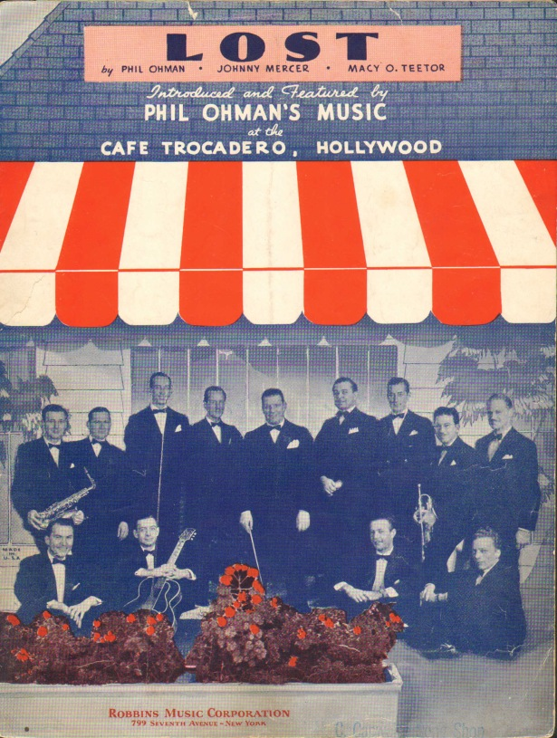 Trocadero sheet music Lost 1936