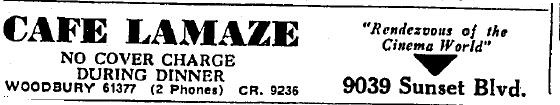 9039 Sunset Blvd as cafe lamaze 1935 julylamaze