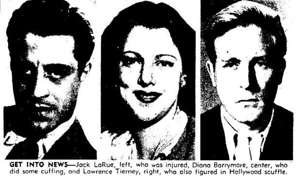 1946 1 22 jack larue, diana barrymore, lawrence tierney brawl