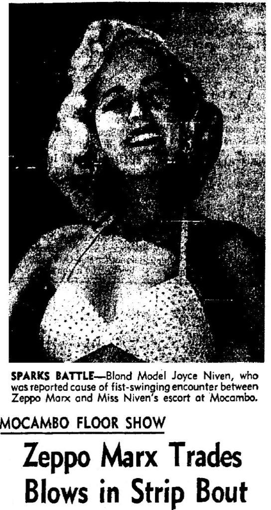 1957 5 zeppo marx mocambo