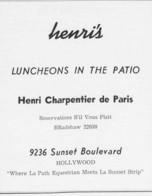 9236 sunset blvd Henri's