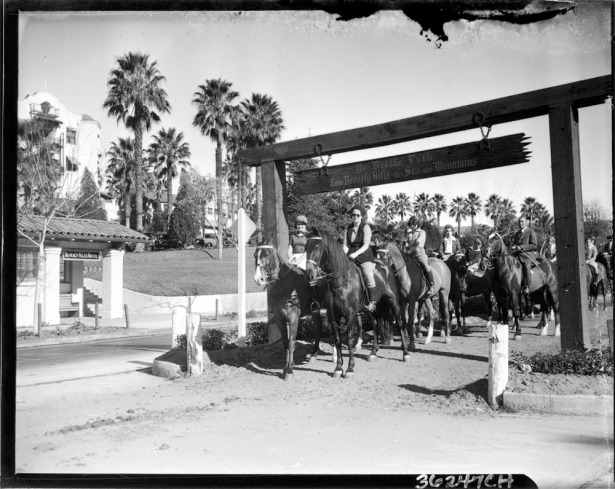 sunset blvd bridle path 1930s