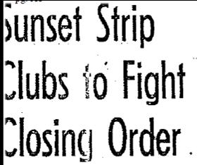 12-1944 sunset strip clubs closing order