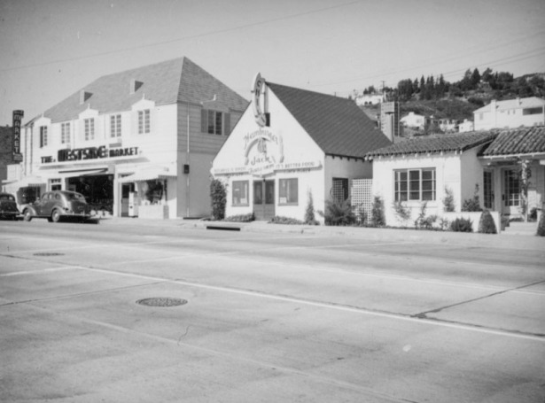 Hamburger Jack's, one of the oldest eateries on the Strip seen c. 1937. LAPL