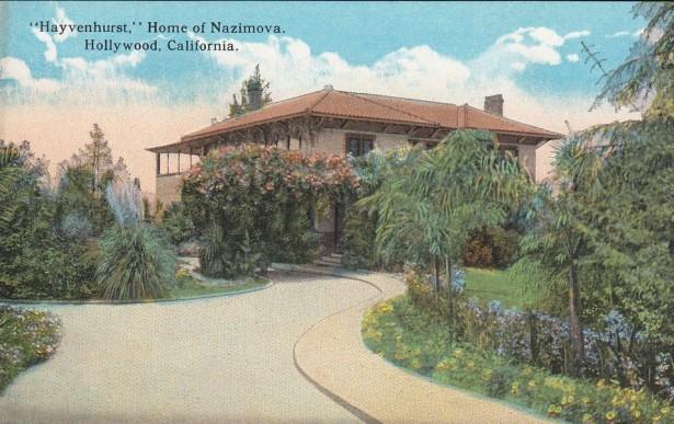 Alla azimova home postcard 1910's