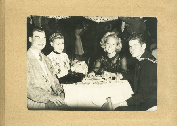 A sailor and party at Trocadero, WWII