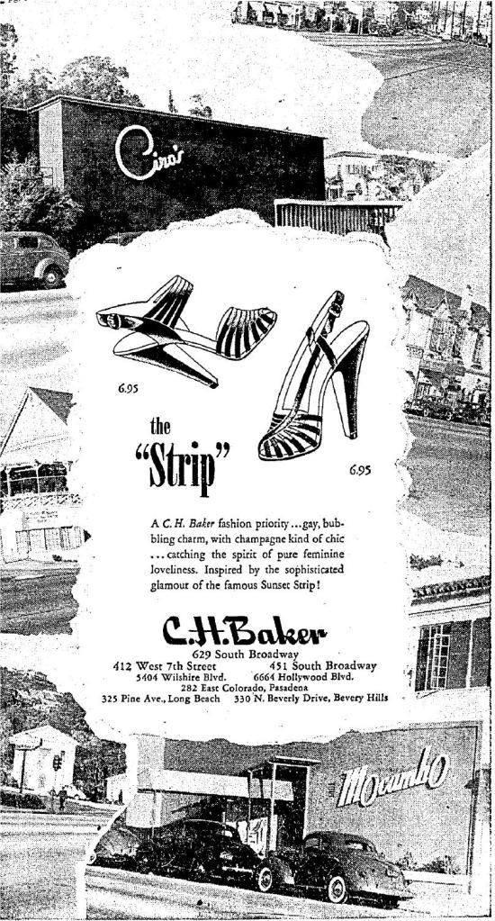 c.h. baker shoes sunset strip