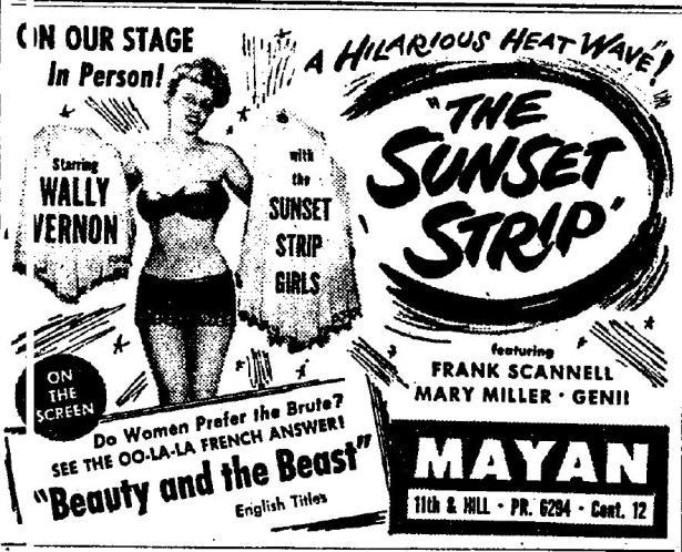 sunset strip burlesque 1948