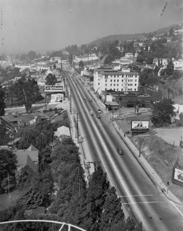 Sunset Strip near Sweetzer, 1949