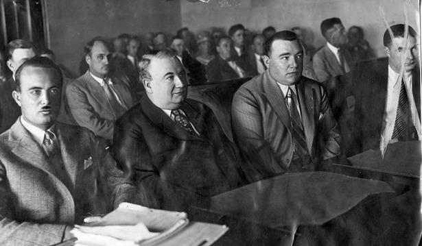 Marco in court, 1928. LAPL.