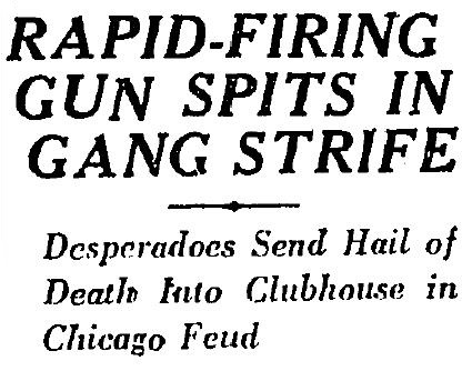 machine gun chicago 1925