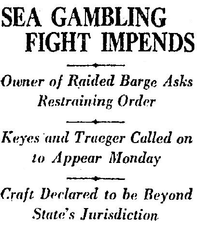 gambling ship 1927