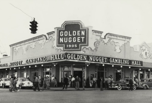 The Golden Nugget c. 1946. The 1905 date refers to the founding of the town and fit in with the old west theme of the casino.