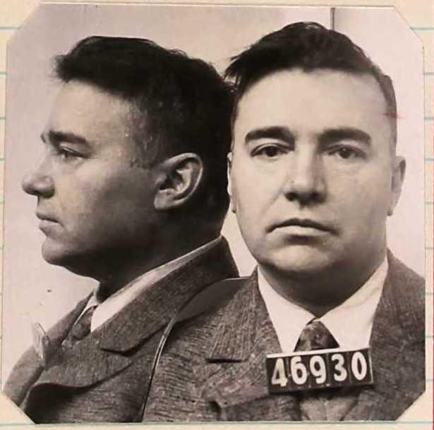 Albert Marco's prison mugshot, 1929