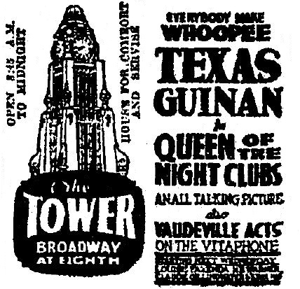 4-17-1929. Queen of the Night Clubs comes to the Los Angeles Theater.