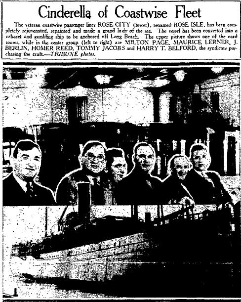 Farmer Page (left) ahown as one of the owners of the Rose Isle. 10-4-1930, Oakland Tribune