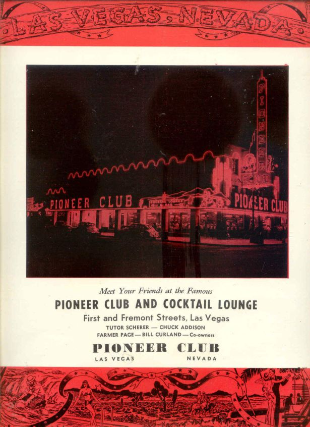 1947 ad for the Pioneer Club