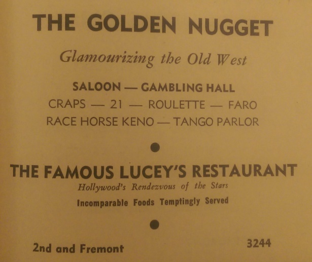 golden-nugget-luceys- las vegas 1946-telephone book
