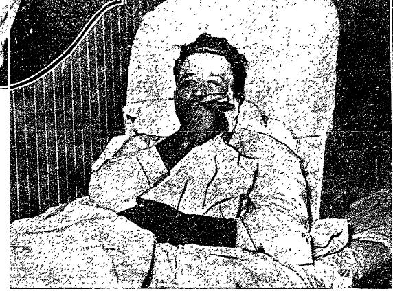Granville Blair in the hospital after being taken into custody. LAT 5-24-1924