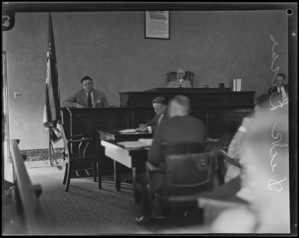 Dick Lucas on the stand, 1929. UCLA digital