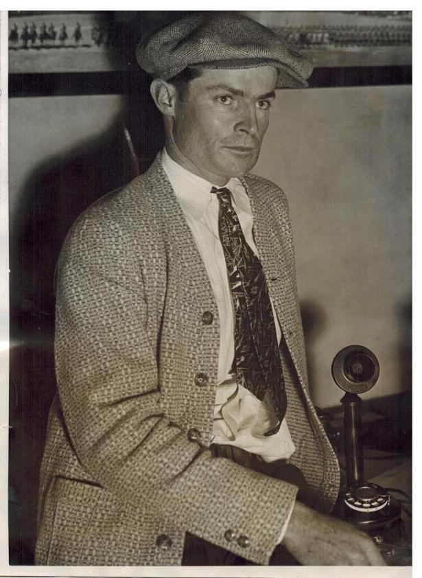 Richard Crank, held as a witness in the murder of brother Paul Crank, 1931. .Author's collection.