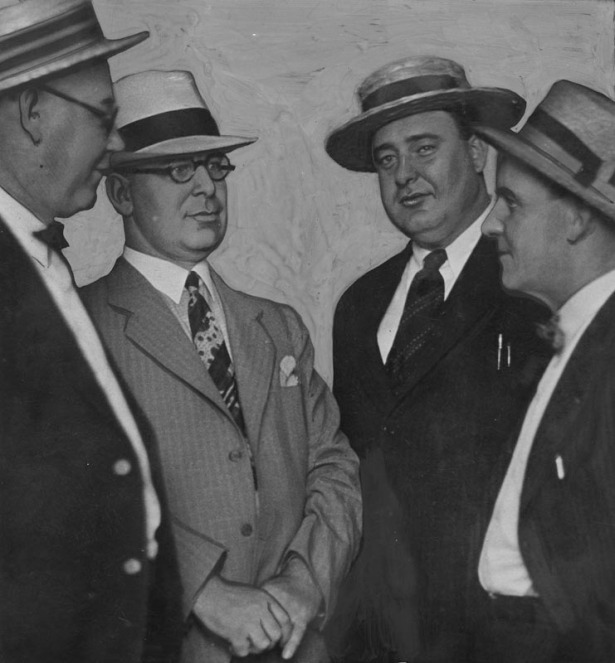 The raid party: (L-R) Rusty Williams, Bert Wallis, Dick Lucas and Harry Raymond. LAPL