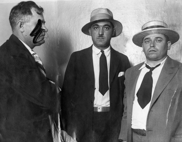 "(L-R) Detective Frank ""Lefty"" James, Pupillo and Ardito. LAPL"