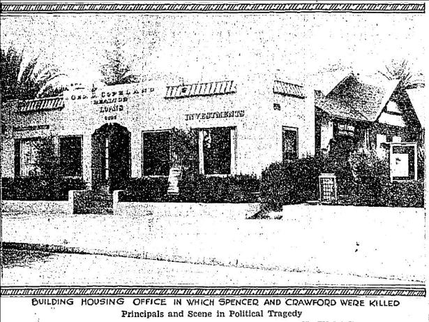Crwford's offices, 6665 Sunset Blvd., 1931. LA Times.