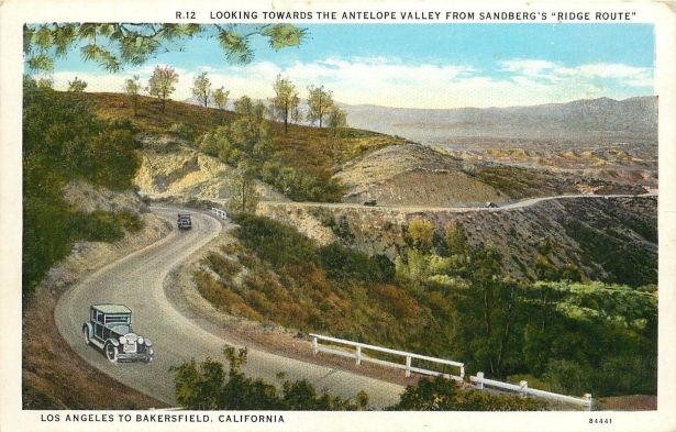 The Ridge Route near Sandberg's Resort